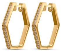 -Creolen Hexagon 44 Zirkonia Gold 32010628