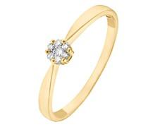 -Damenring 375er Gelbgold 7 Diamant 54 32004575