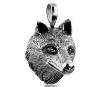 Anhänger Kettenanhänger Wolfkopf Robust 925 Silber