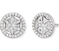 -Ohrstecker 925er Silber rhodiniert, rhodiniert 48 Zirkonia One Size 87635015