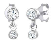 Ohrringe Ohrhänger Kristalle 925 Sterling Silber