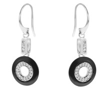Ringförmige Diamant-Ohrringe aus Keramik