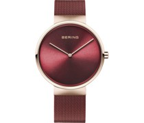 Unisex-Uhren Analog Quarz Rot/Roségold 32017005