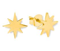 Ohrstecker für Stern, 925er Sterling Silber gelbvergoldet