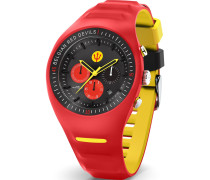 -Uhren Analog Quarz Schwarz/Rot 32014978