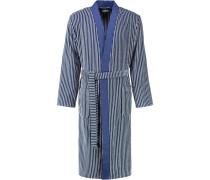 Bademantel Kimono Streifen 2843 blau - 17
