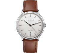 -Uhren Analog Automatik Braun Leder 32012928