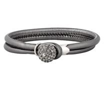 Armband Messing Glassteine silber