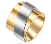 Ring Edelstahl gelbgold/silber Edelstahlring