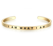 Armband I AM WHAT I AM Edelstahl gelbgold