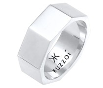 Ring Bandring Achteck Hexagon 925 Silber