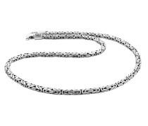 Halskette Basic Königskette Oxidiert Cool 925 Silber