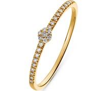 -Damenring 375er Weißgold 25 Diamant 52 32004932