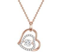 Halskette Sterling Silber Zirkonia roségold