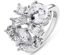 Silver-Damenring 925er Silber 9 Zirkonia 53 32013601
