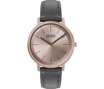 Hugo-Uhren Analog Quarz One Size Leder 87644812