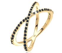 Ring Kreuz Symbol Zirkonia 925 Sterling Silber