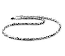 Halskette Königskette Oxidiert 925 Sterling Silber