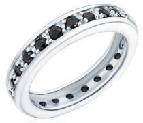Ring Sterling Silber Zirkonia schwarz