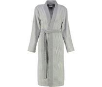Bademantel Kimono Zick Zack 5488 silber-weiss - 76