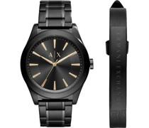 -Uhren Analog Quarz One Size Edelstahl 87203263