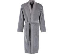 Bademantel Kimono Hoch-Tief-Velours 6511 blau-türkis - 14