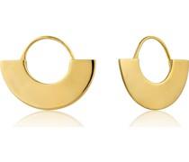 -Ohrhänger Geometrie Fan Hoop Earring 925er Silber Gold 32014216