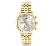 Chronograph Runde Uhr von , Edelstahl mit IP Gold