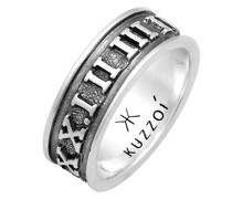 Ring Bandring Römische Zahlen 925 Silber