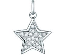 Anhänger Stern Sterling Silber Zirkonia silber Silberanhänger