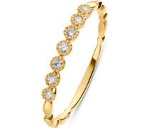 -Damenring 375er Gelbgold 7 Diamant 58 32013550