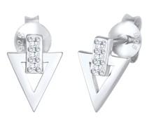 Ohrringe Stecker Dreieck Zirkonia 925 Silber