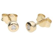 Ohrstecker mit Brillanten, Gold 585