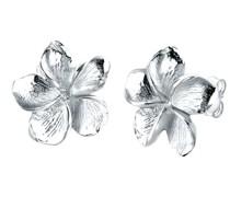 Ohrringe Frangipani Blüte Blume 925 Silber
