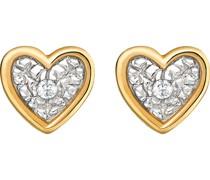 Diamonds-Ohrstecker 375er Gelbgold 2 Diamant One Size 87381722