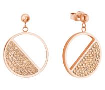 Ohrring für mit funkelnden Swarovski® Kristallen , IP Rose Beschichtung apricot