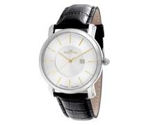 Armbanduhr mit schweizer Uhrwerk und goldfarbenen Zeigernuhren