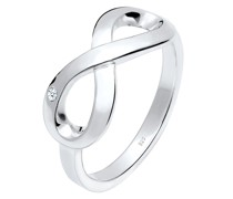 Ring Infinity Ewig Diamant (0.015 ct.) 925 Silber