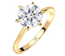 Ring Verlobungsring Kristalle 925 Silber