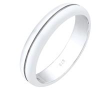 Ring Bandring Trauring Basic Hochzeit Paar 925 Silber