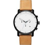 -Uhren Analog Quarz Braun/Silber 32002654