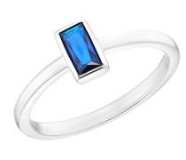 Ring für, 925 Sterling Silber mit Zirkonia blau