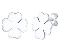 Ohrringe Kleeblatt Glücksbringer Luck 925 Silber