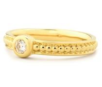 Ring Messing Zirkonia gelbgold