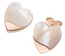 Ohrstecker Herzen mit Perlmutt, Silber 925