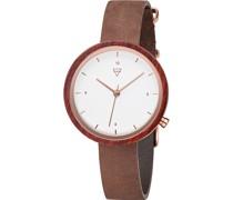 -Uhren Analog Quarz Braun Braun Leder 32001750