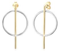 Ohrringe Ohrhänger Geo Kreis Basic Minimal Look 925 Silber