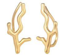 Ohrringe Ear Climber Korallenzweig 925 Silber