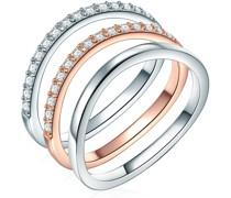 Ring Sterling Silber Zirkonia silber/roségold Ringe