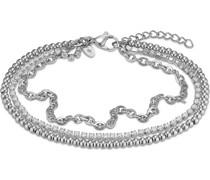 -Armband Edelstahl 67 Zirkonia Silber 32013452